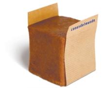 presentación individual del culán de chocolate