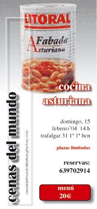 "ticket/cartel anunciador ""fabada asturiana"""