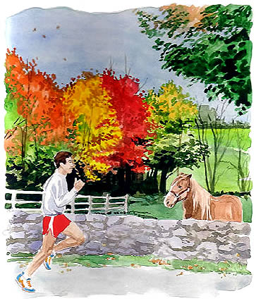 corriendo en otoño
