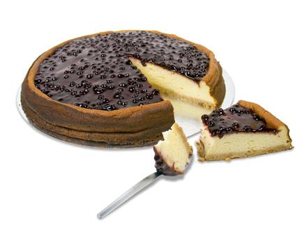 tarta de queso y arándanos