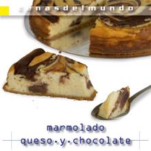 ficha marmolado de queso y chocolate anverso