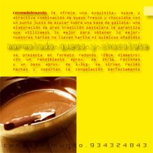 ficha marmolado de queso y chocolate reverso