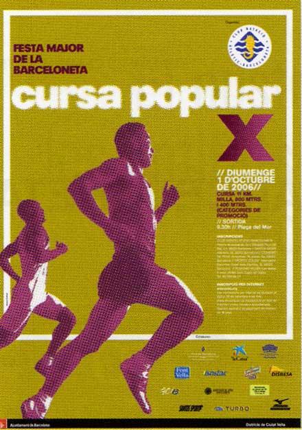 cartel anunciador X cursa de la barceloneta'06