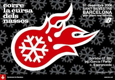 """cartel anunciador 8 """"cursa dels nassos"""" 2006"""