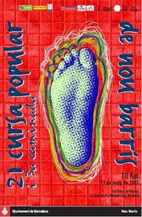 cartel anunciador 21ª cursa popoular de nou barris 2007
