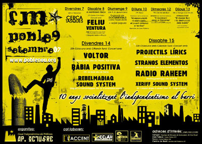 cartel anunciador festa major de poble nou 2007