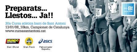 cartel anunciador 30ª cursa de sant antoni 2008
