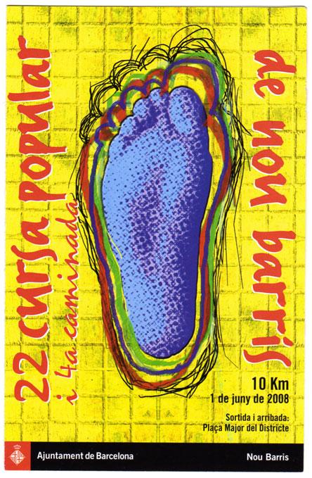 cartel anunciador cursa nou barris\'08