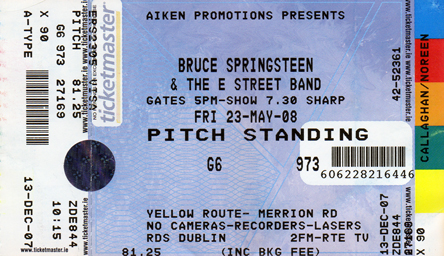 ticket bruce springsteen in dublin