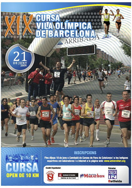cartel Cursa Vila Olimpaca 2009