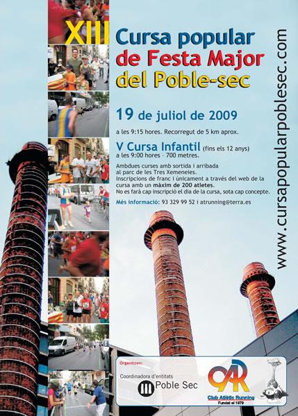 Cartel XIII Cursa Poble Sec 2009