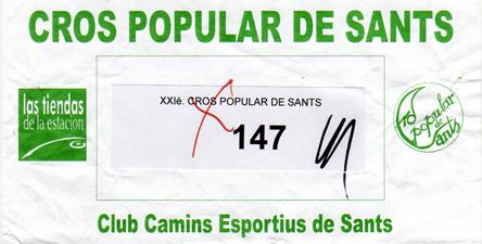 dorsal 28 cross popular de sants 2009