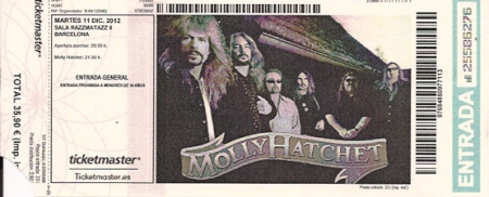 ticket, molly hatchet