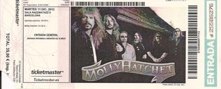 ticket, molly hatchet