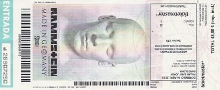 ticket, rammstein 2013